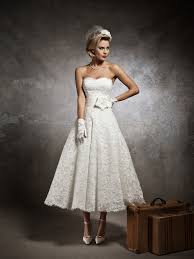 simple tea length wedding dresses with sleeves pictures ideas