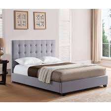 Upholstered Platform Bed King Sebright King Size Grey Upholstered Platform Bed Free Shipping