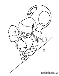 santa gets stuck in the chimney coloring pages hellokids com