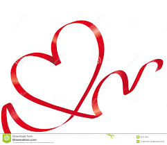 heart ribbon ribbon heart stock image image of curving illustrated