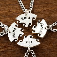 best name necklace 4 best friend necklace custom name necklaces interlocking