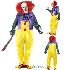Halloween Costume Mens Cl921 Horror Killer Clown Scary Circus Costume Mens Halloween