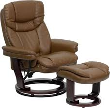 Brown Leather Chair With Ottoman Chairs Ottoman Sets