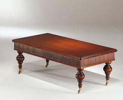 classic coffee table wooden square ottocento medea