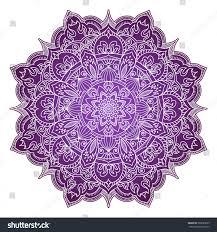eightpointed mandala flower zentangle style shades stock vector