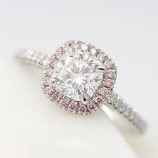 pink wedding rings pink diamond engagement rings hart