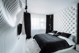 fascinating bedroom design ideas using white and black color theme
