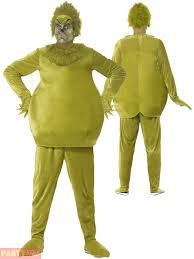 grinch costume adults the grinch costume mens dr seuss book week day fancy dress