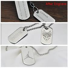 engravable dog tags for men gagaffel laser engraving customized logo stainless steel dog tag