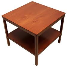 End Table With Shelves by Square Side Table With Bottom Shelf In Cuban Mahogany By Kaare