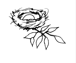 nest clipart sketch pencil and in color nest clipart sketch