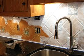 painting kitchen backsplash ideas painted tiles kitchen backsplash superb 8875 home design