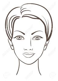 beautiful woman face for makeup design royalty free cliparts