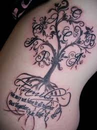 collection of 25 memorial tree on right back shoulder