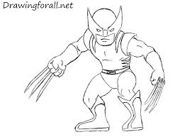 how to draw wolverine for kids drawingforall net