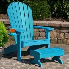 plastic adirondack chairs with ottoman adirondack chair with ottoman adirondack chairs you ll love wayfair