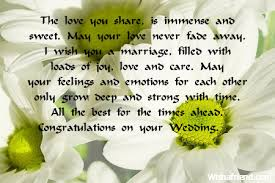wedding wishes for best friend the you is immense wedding wish