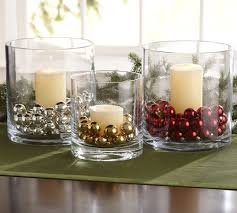 Christmas Table Centerpiece by Dollar Store Hurricanes And Beads Easy Christmas Decoration