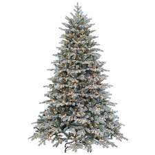 flocked tree faux lighted flocked vermont spruce christmas tree williams sonoma