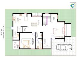 3 bhk floor plan for 40 x 60 plot 2400 square feet 266