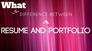 Whats The Difference Between Cv And Resume What Is The Difference Between A Resume And Portfolio Wisestep
