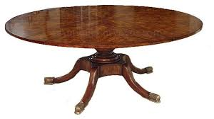 Mahogany Dining Table Round Mahogany Dining Table With Self Storing Leaves Pedestal