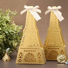 eiffel tower favors eiffel tower laser cut yellow and wedding favor box