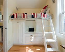 Bunk Beds With Built In Desk Bedroom Costum Built Loft Bed With Desk Underneath With