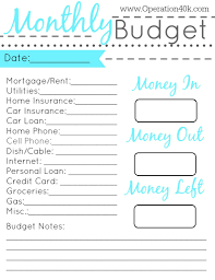 100 monthly budgets templates quarterly budget template