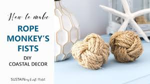 How To Make Decorative Balls How To Make A Monkey U0027s Fist With Diy Sailor Knot
