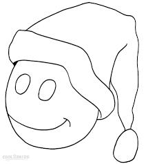 santa hat coloring free printablehat printable theotix