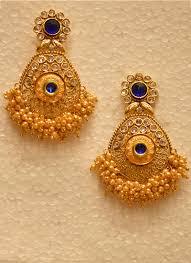 golden earrings wedding wear luxurious pearl cluster golden earrings