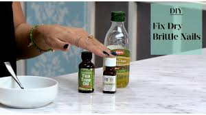 how to fix dry brittle nails youtube