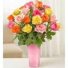 Multi Colored Roses Long Stem Multicolored Roses Uganda Flowers And Gifts