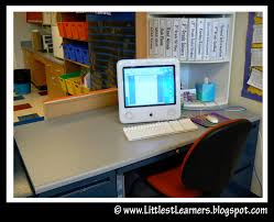 Desk Organized by The Teacher U0027s Desk Setting Up The Classroom Series Clutter