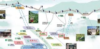 Map Of The Great Wall Of China by Great Wall Maps Maps Of Jinshanling Simatai Mutianyu Great Wall