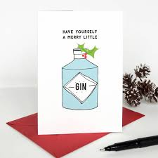 yourself a merry gin card by studio thirty