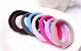 hair elastic hair band ties for kids elastic cotton seamless 8mm