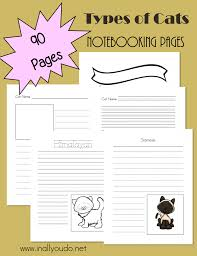 types of cats notebooking pages in all you do