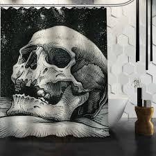 Skull Shower Curtain Hooks Popular Shower Curtain Bathroom Skull Buy Cheap Shower Curtain