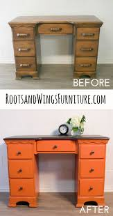 235 best orange painted furniture images on pinterest painted