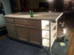 how do you build a kitchen island diy kitchen island from stock cabinets diy home