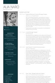Personal Website Resume Examples by Massage Therapist Resume Samples Visualcv Resume Samples Database