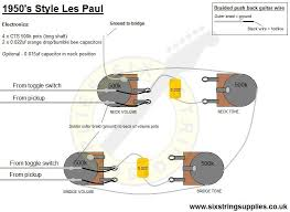 six string supplies u2014 how to wire a les paul 50s wiring