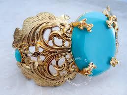 vintage turquoise bracelet images Lola turquoise and gold antique statement cuff bracelet jpg