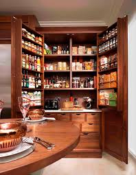 luxury kitchen style ideas with wooden open storage food pantry