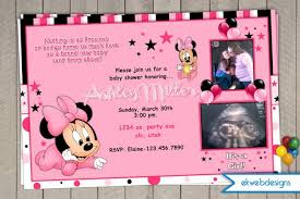 Minnie Mouse Baby Shower Invitations Templates - custom minnie mouse baby shower invitations stephenanuno com