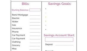 Monthly Bill Spreadsheet Template Printable Monthly Budget Planner Template