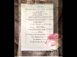 wedding invitation wording samples youtube