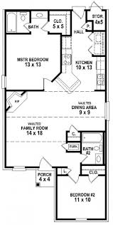 Two Bedroom Two Bath House Plans Apartments Simple Plan For House Two Bedroom Simple House Plan